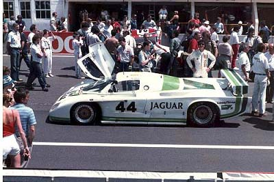1984:The V12 6 litre Jaguar XJR 5 of Brian Redman, Doc Bundy and Bob Tullius; © Rupert Lowes