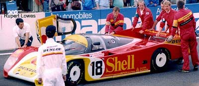 1988: The Porsche 962 of Bob Wollek,Vern Schuppan and Sarel van der Merwe; © Rupert Lowes